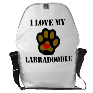 I Love My Labradoodle Courier Bag