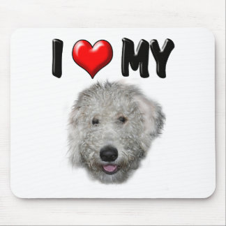 I Love My Labradoodle Mouse Pad