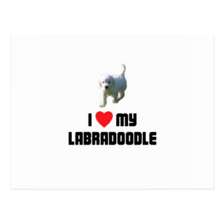 I Love My Labradoodle Postcard