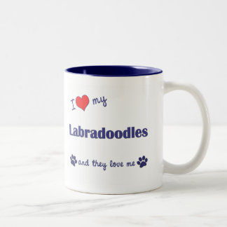 I Love My Labradoodles (Multiple Dogs) Two-Tone Mug