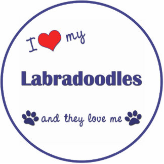 I Love My Labradoodles (Multiple Dogs) Photo Sculpture Ornament