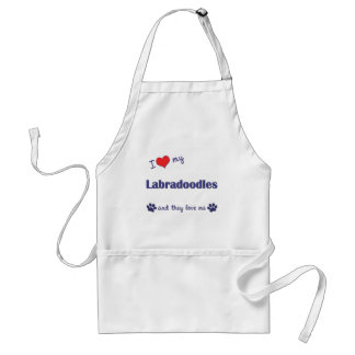 I Love My Labradoodles (Multiple Dogs) Standard Apron