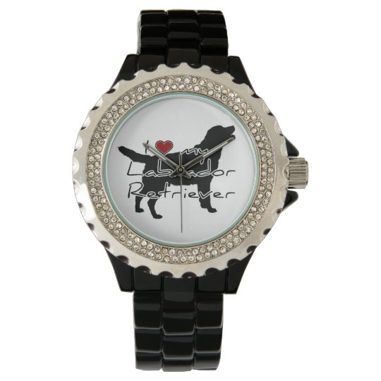 I love my Labrador Retriever words & graphic! Wrist Watches