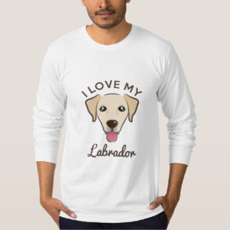 """I Love My Labrador"" Yellow Lab Mens Long Sleeve T T-Shirt"