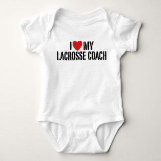 I Love My Lacrosse Coach Baby Bodysuit