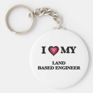 I love my Land Based Engineer Basic Round Button Keychain
