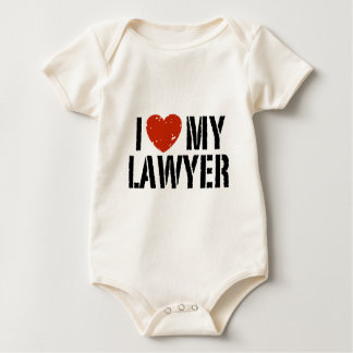 I Love My Lawyer Baby Bodysuit