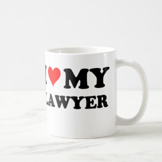 I Love My Lawyer Coffee Mug