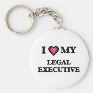 I love my Legal Executive Basic Round Button Keychain