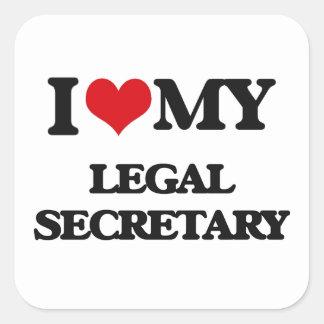 I love my Legal Secretary Stickers