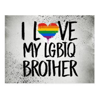 I Love My LGBTQ Brother Postcard