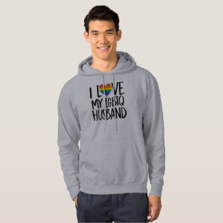 I Love My LGBTQ Husband Hoodie
