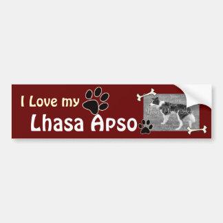 I love my Lhasa Apso Bumper Sticker