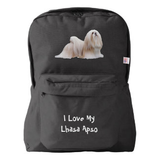 I Love My Lhasa Apso on Black Backpack