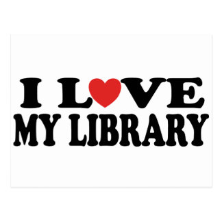 I Love My Library Librarian Gift Postcard
