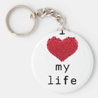 i love my life keychain