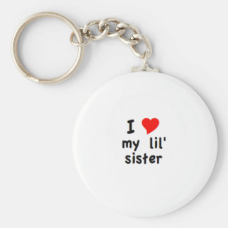 i love my lil sister keychain