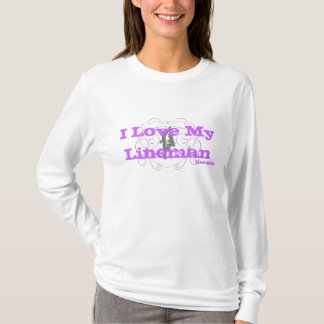 I Love My Lineman Hoody-Purple T-Shirt