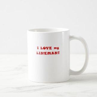 I Love my Lineman Basic White Mug