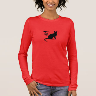 I Love My Little Black Cat Long Sleeve T-Shirt