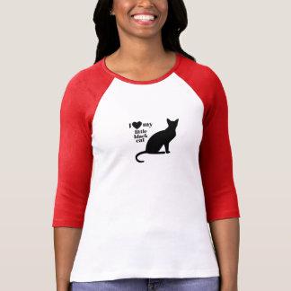 I Love My Little Black Cat T-Shirt