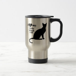 I Love My Little Black Cat Travel Mug