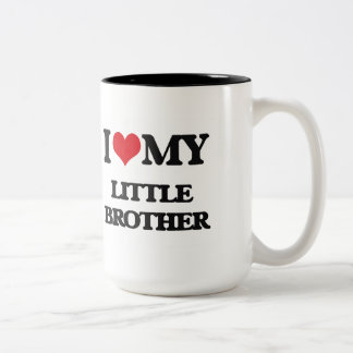 I love my little Brother Two-Tone Coffee Mug