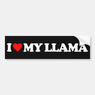 I LOVE MY LLAMA BUMPER STICKER