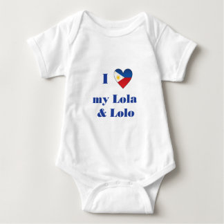 I Love My Lola and Lolo1 Baby Bodysuit