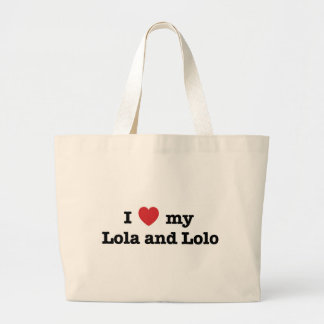 I Love my Lola and Lolo Jumbo Tote Bag