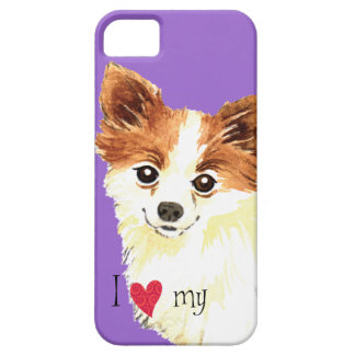 I Love my Long Coat Chihuahua iPhone 5 Covers