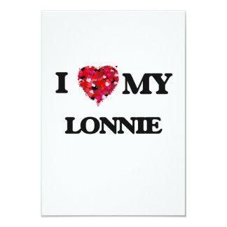 "I love my Lonnie 3.5"" X 5"" Invitation Card"