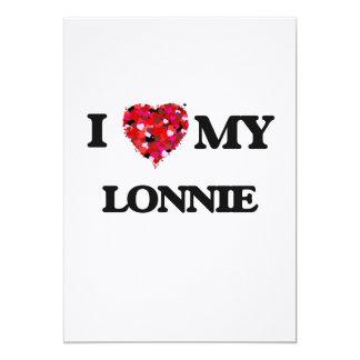 "I love my Lonnie 5"" X 7"" Invitation Card"