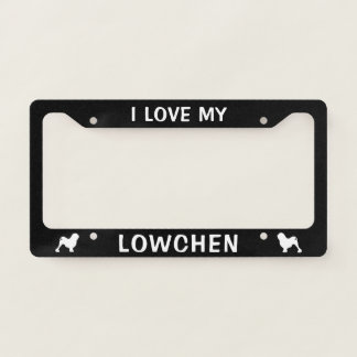 I Love My Lowchen - Silhouettes Custom License Plate Frame