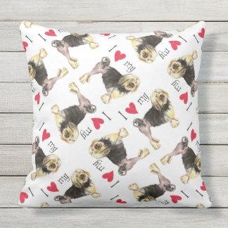 I Love my Lowchen Throw Pillow