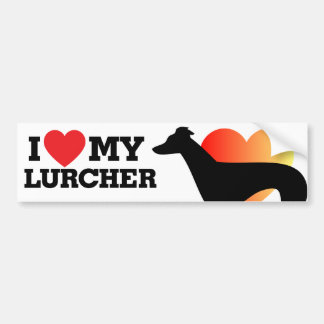 I love my Lurcher Bumper Sticker