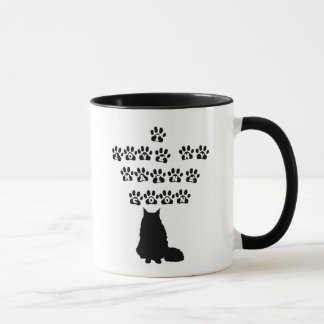 I Love My Maine Coon--Black Text Mug