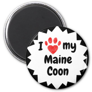 I Love My Maine Coon Cat Magnet