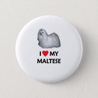 I Love My Maltese 2 Inch Round Button