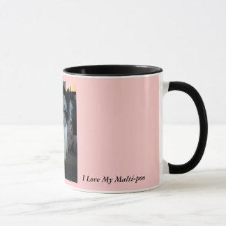 I Love My Malti-poo, pink Mug