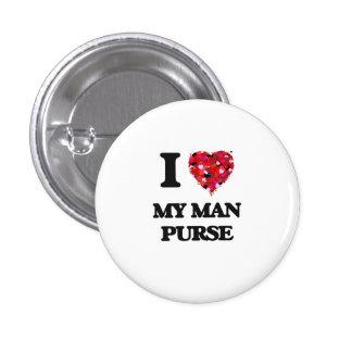 I love My Man Purse 1 Inch Round Button