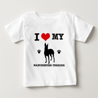 I Love my manchester Terrier Baby T-Shirt
