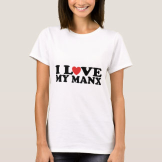 I Love My Manx Cat T-Shirt