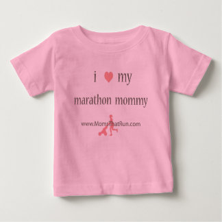i love my marathon mommy girls t-shirt