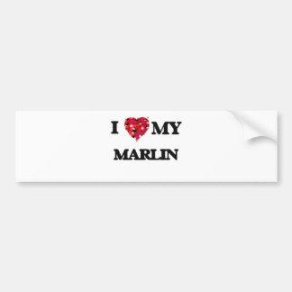 I love my Marlin Bumper Sticker