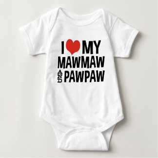 I Love My MawMaw and PawPaw Baby Bodysuit