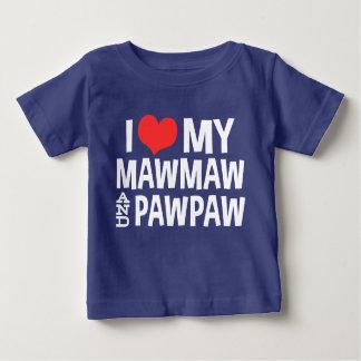 I Love My MawMaw and PawPaw Baby T-Shirt