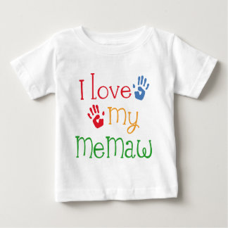 I Love My Memaw Handprints Baby T-Shirt