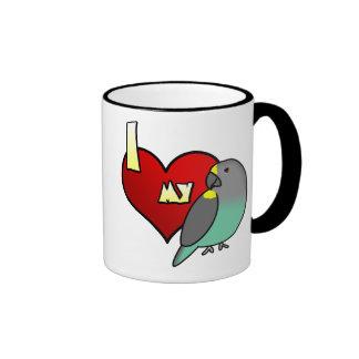 I Love my Meyers Parrot Ringer Mug