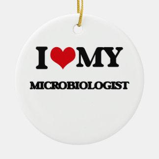 I love my Microbiologist Ceramic Ornament